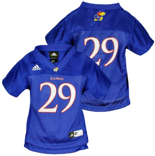 Adidas NCAA Toddlers Kansas Jayhawks # 29 Basketball Jersey, Blue (2T)