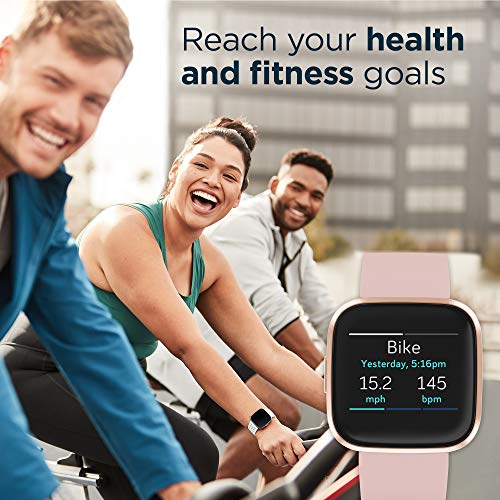 Fitbit Versa 2 Health and Fitness Smartwatch with Heart Rate, Music, Alexa Built-In, Sleep and Swim Tracking, Petal… 5