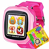 Kids Game Smart Watch Touch Screen Pedometer Camera 1.5'' Touch 10 Games Timer Alarm Clock Learning Color Kid smartwatches Bracelet Perfect Summer Holiday Birthday Toys Gifts for Children (Pink)