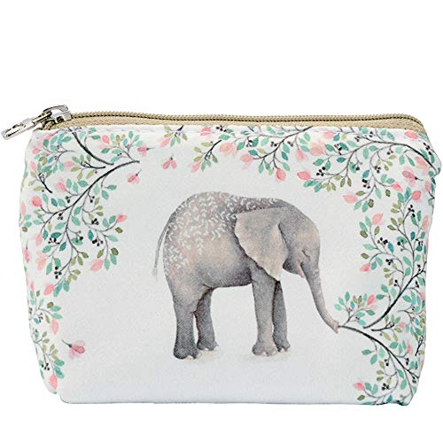 ARRIZO Women and Girls Cute Fashion Coin Purse Wallet Bag Change Pouch Key Holder (Forest Elephant)