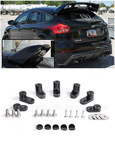 (Extreme Online Store for 2013-Present Ford Focus ST/RS Hatchback Models | EOS Add-On Rear Wing Spoiler Riser Extendsion (Anodized)