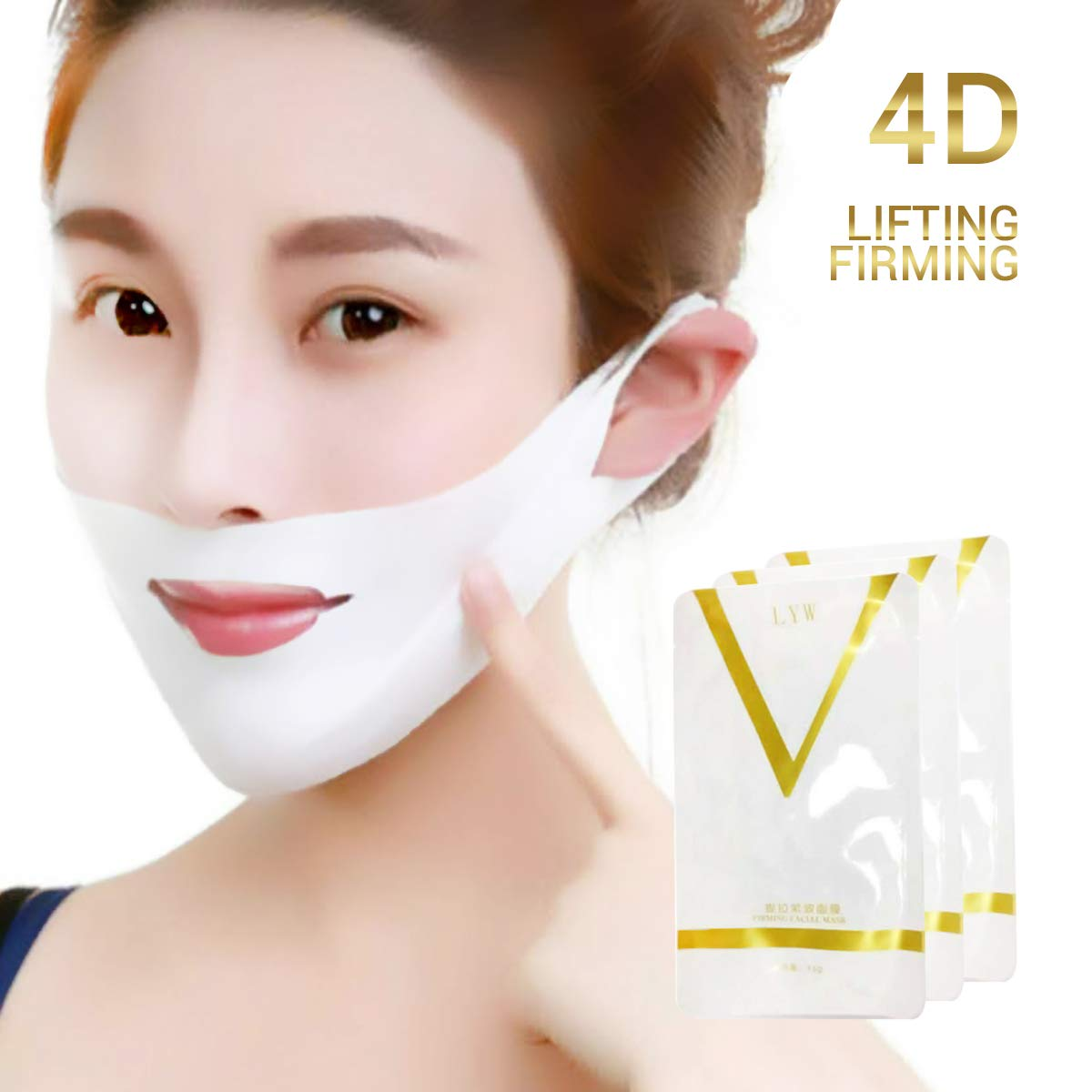 Surenhap 5Pcs Face V-Line Chin Arriba Lift Mask Anti-Age ...