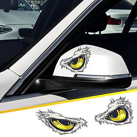 2 unds Pegatina vinilo ojos aguila para retrovisores coches cascos motos ciclomotores bicicletas de OPEN BUY