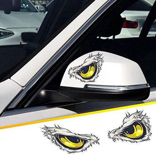 2 unds Pegatina vinilo ojos aguila para retrovisores coches cascos motos ciclomotores bicicletas de OPEN BUY: Amazon.es: Hogar