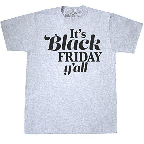 Yall Ash Grey T-shirt - inktastic Black Friday Yall T-Shirt Medium Ash Grey 2de19