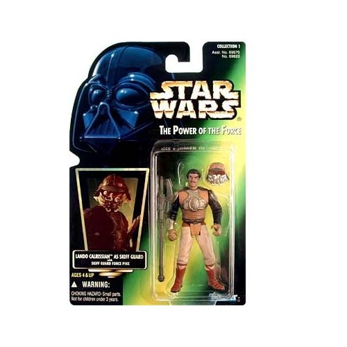 Star Wars Power Of The Force Green Card Lando Calrissian Skiff Guard Action Figure 3 75 Inches