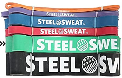 """Resistance Band by Steel Sweat - Best for Assisted Pull-Up and Workout/Exercise/Mobility/Weight lifting and Powerlifting - Top Rated Durable Pull-Up Assist Band - 41"""" length"""