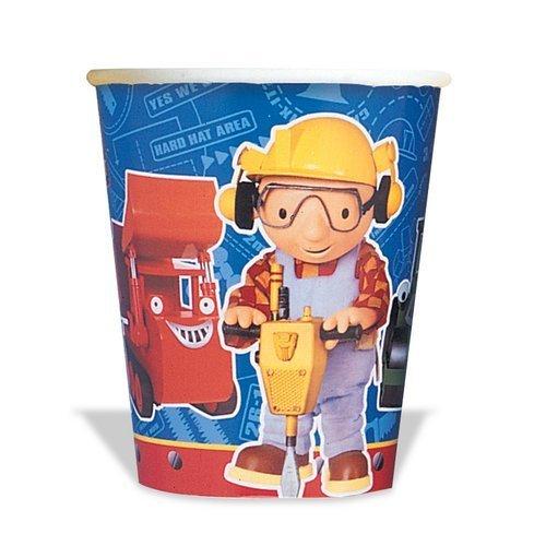 None Bob The Builder Cups - 8 Count (9 oz.)