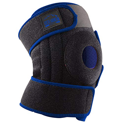 Knee Brace Stabilizer Therapy Sleeve Wrap Adjustable Patella Tendon Support for Meniscus Tear, Bursitis, Runners, Arthritis, Jumpers, ACL, MCL, Joint Injuries, Ligament Sprains, Swelling, & All Sports
