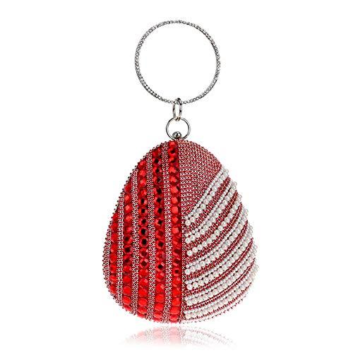Pochette Mariage Zhongsufei Style couleur Rouge Femme Enveloppe Strass De Bleu Embrayage Soirée Main Bourse À Perle Sac Dames 57B7xqgApw