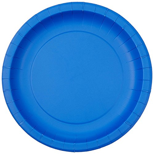Jubilee 7-Inch Paper Plates, 40 Count, Blue