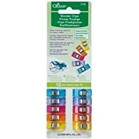 Clover 3185 10-Piece Wonder Clips, Assorted Colors