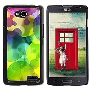 Be Good Phone Accessory // Dura Cáscara cubierta Protectora Caso Carcasa Funda de Protección para LG OPTIMUS L90 / D415 // Colors Circle Pattern Lime Green