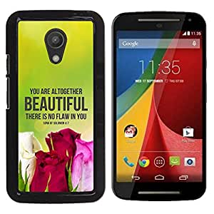 Paccase / SLIM PC / Aliminium Casa Carcasa Funda Case Cover para - BIBLE There Is No Flaw In You - Song Of Solomon 4:7 - Motorola MOTO G 2ND GEN II