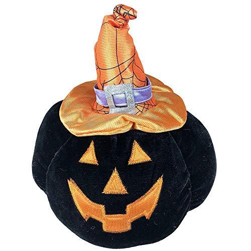 callm Halloween Plush Toys,Cute Halloween Pumpkin Head Plush Decorative Stuffed Toys Halloween Decorations Gifts for Family and Friends (25X25X20cm,Black)