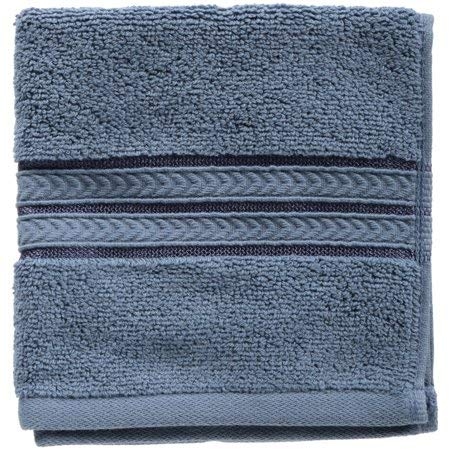 Better Homes and Gardens Thick and Plush Solid Bath Collection, Washcloth Insignia Blue from Better Homes & Gardens