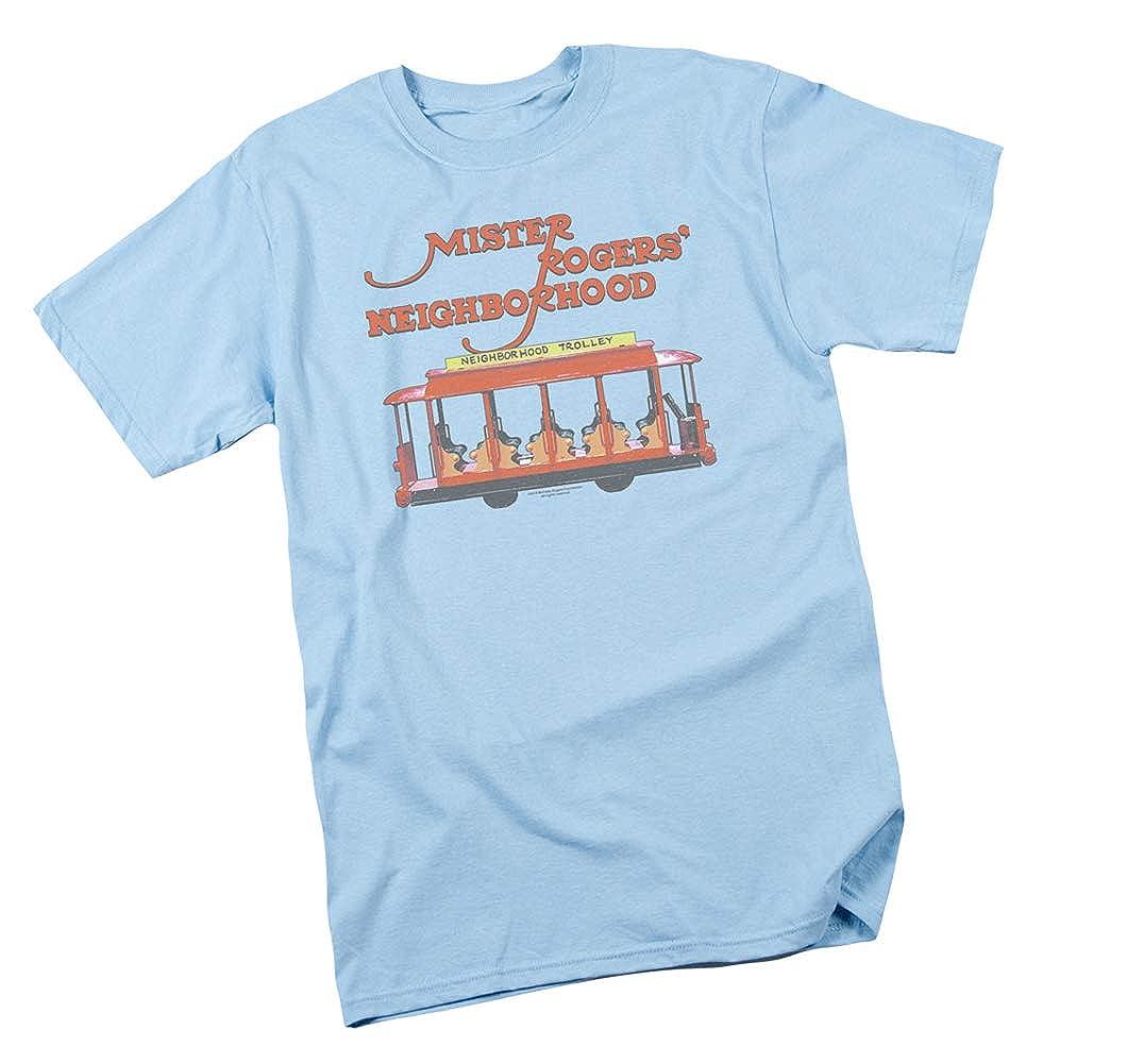 Adult T-Shirt Mister Rogers Neighborhood Trolly