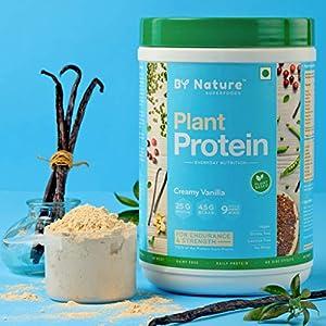 By Nature Plant Protein Powder, 500g (Creamy Vanilla) for Women & Men, Pea + Brown Rice + Mung Bean Protein, Vegan, All…