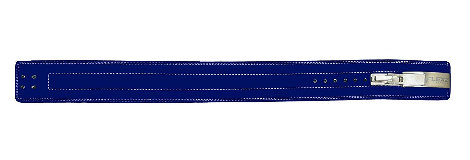 Flexz Fitness Lever Buckle Powerlifting Belt 10mm Weight Lifting Blue X Large by Flexz Fitness (Image #8)