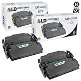 LD Compatible Replacements for HP 87X / CF287X 2PK HY Black Toner Cartridges for LaserJet Enterprise- M506dh, M506dn, M506n, M506x, M527c, M527dn, M527f, M527z | LaserJet Pro- M501dn, M501n