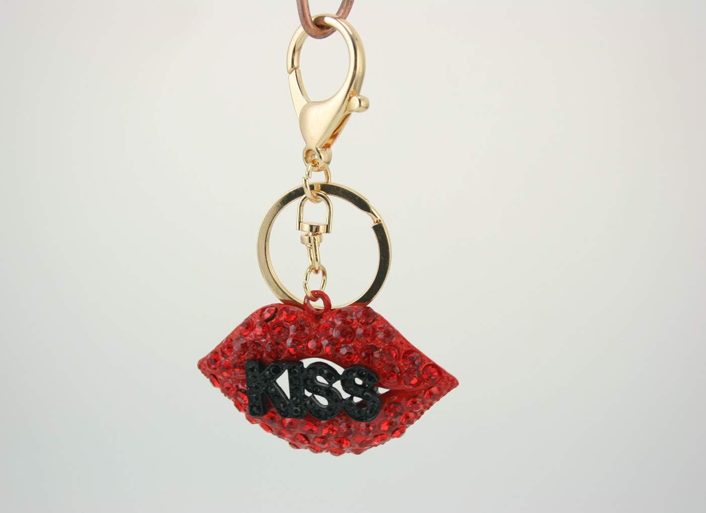 WELSH DRAGON Keyring Handbag Charm Sparkle Rhinestone Key-Ring AUTHENTIC NEW