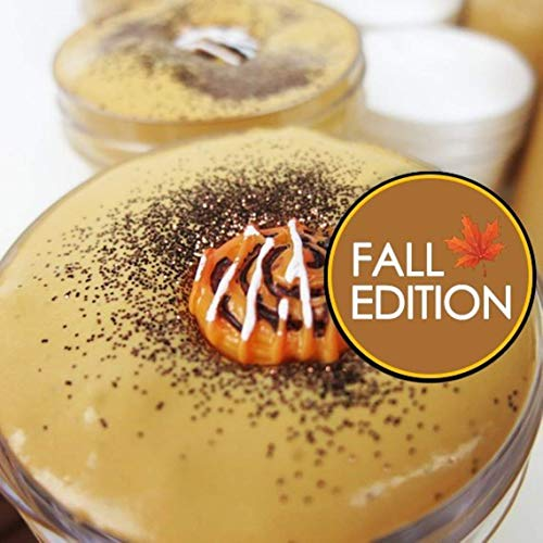 Cinnamon Bun with Icing Slime Duo (Scented) with Charm - Special Fall Edition (You get BOTH - 4oz butter slime & 2oz thick and glossy slime)