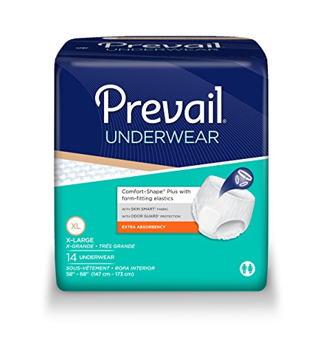 Prevail Underwear, Extra Absorbency, X-Large, Case/56 (4/14s.