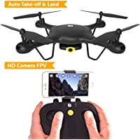 SPECTRE Drone with HD Camera Live Video - WiFi FPV Drone With Auto Take-Off & Land - Racing Aerobatic Flips - Mini Quadcopter