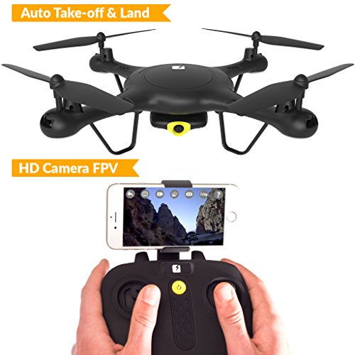 TRNDlabs Spectre Drone with HD Camera Live Video - WiFi FPV Drone with Auto Take-Off & Land - Racing Aerobatic Flips - Mini Quadcopter