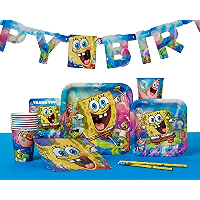 American Greetings 645416352659 SpongeBob SquarePants Invite and Thank You Combo Pack, Party Supplies Novelty (8-Count): Toys & Games