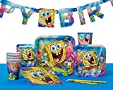 American Greetings Spongebob Party Supplies, Square Paper Dinner Plates