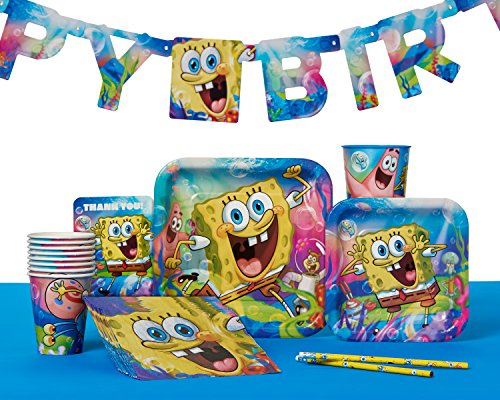 American Greetings Spongebob Party Supplies, Square Paper Dinner Plates (8-Count)