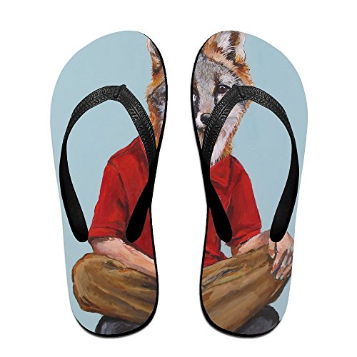 3d140600a02c Couple Flip Flops Wolf Man Print Chic Sandals Slipper Rubber Non-Slip House  Thong Slippers