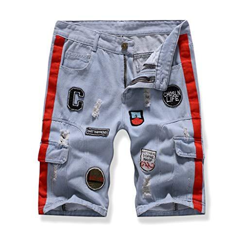iHPH7 Jean Men,Pocket Jeans Men,Regular Fit Jeans Men,Relaxed Jeans Men, Ripped Jeans for Men,Slim Fit Jean Men,Skinny Jeans for Men,Straight Fit Jeans Men (S,3- Blue)