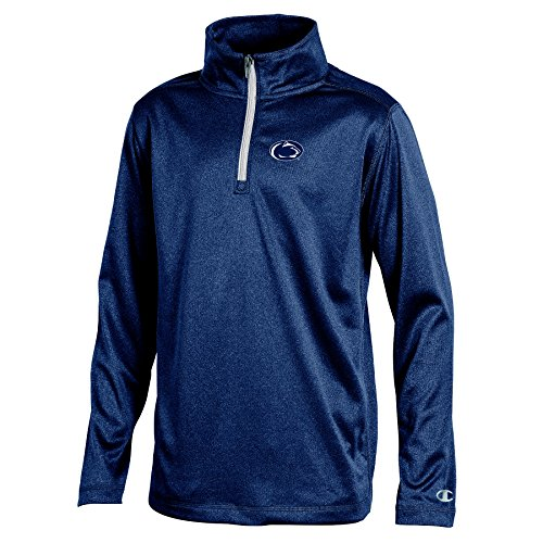 Champion (CHAFK) NCAA Penn State Nittany Lions Youth Boys Lightweight Quarter Zip W Sweat Shirt, Large, Navy Heather