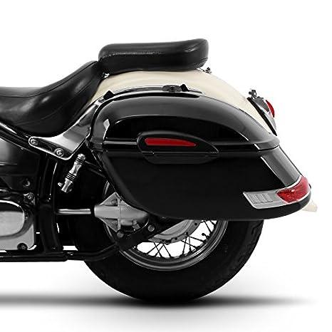Alforjas rigidas Delaware 33l Yamaha XVS 1100/650 A Drag Star Classic: Amazon.es: Coche y moto