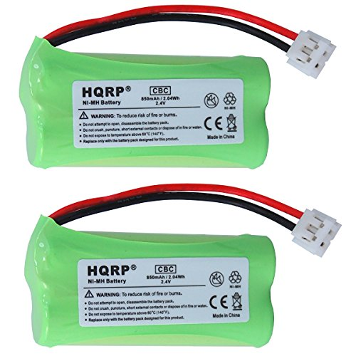 HQRP 2 pack Phone Battery compatible with VTech is6110 / is 6110, LS6113 / LS 6113, LS6204 / LS 6204, LS6245 / LS 6245 Cordless Telephone + Coaster