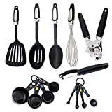 14 Piece Kitchen Utensils Sets, XUANLAN Stainless Steel and Nylon Cooking Tools Non-Stick Heat Resistant Dishwasher Safe