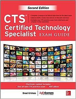 Cts Certified Technology Specialist Exam Guide Second Edition Grimes Brad Inc Avixa 9780071807968 Amazon Com Books
