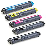 IKONG 5-Pack Compatible Toner Cartridge Replacement for Brother TN221 TN225 works with Brother DCP-9020CDN MFC-9130CW HL-3170CDW MFC-9330CDW HL-3140CW MFC-9340CDW HL-3180CDW HL-3150CDN Laser Printer