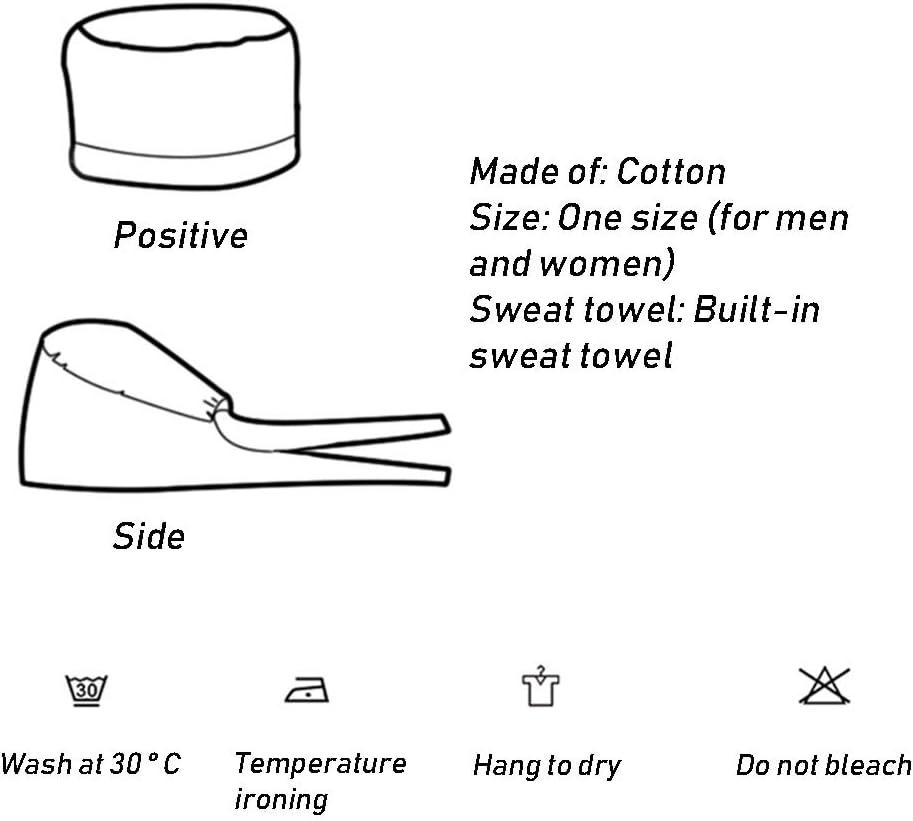 JIUERZAB Cotton chirurgische Cap▏Female gedruckt chirurgischen Haarausfall Chemotherapie Cap▏Oral Zahn plastische Chirurgie Sch/önheit K/üchendunst Kappe Krebs-Chemotherapie-Kappe