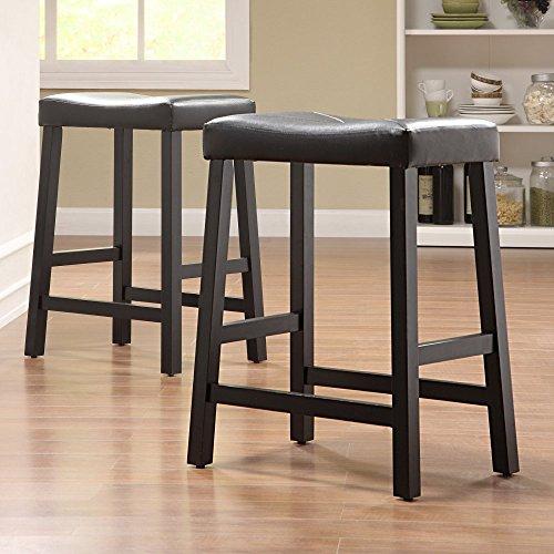 Weston Home Scottsdale Saddle Counter Stool - Set of - Saddle Seat Stool Hardwood
