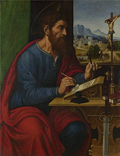 Oil Painting 'Pier Francesco Sacchi Saint Paul Writing', 16 x 21 inch / 41 x 53 cm , on High Definition HD canvas prints is for Gifts And Dining Room, - Sports Flatiron Coupon