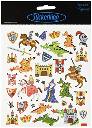 (Tattoo King Multi-Colored Stickers-Castles and)