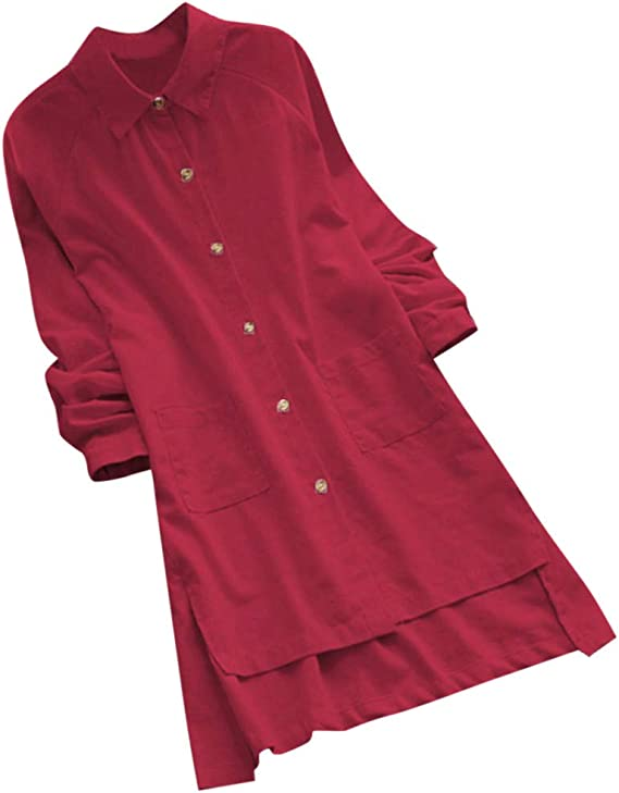 BESSKY - Camiseta de Manga Larga para Mujer Rojo XXX-Large: Amazon.es: Ropa y accesorios