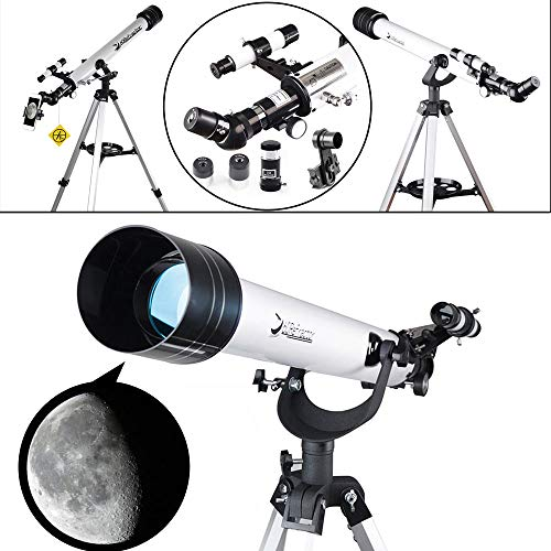 Landove Telescope,60AZ 700mm Travel Scope-Portable Telescope for Beginners and Kids to Observe Moon and View Land-Come with Tripod and 10mm Smartphone Digiscoping Adapter by Landove (Image #7)