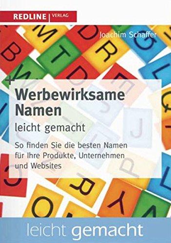 Werbewirksame Namen leicht gemacht: So finden Sie die besten Bezeichnungen für Produkte, Unternehmen und Websites