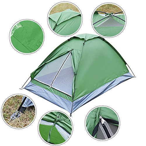 Camping Tent 2 Person, Waterproof Traveling Outdoor Hiking Double Layer - Friday Sale Black Costa