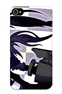 Crooningrose Premium Protective Hard Case For Iphone 4/4s- Nice Design - Black Rock Shooter
