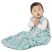 [Patrocinado] baby deedee Sleep Nest Lite Baby Sleeping Bag, Teal Elephant, Medium (6-18 Months)